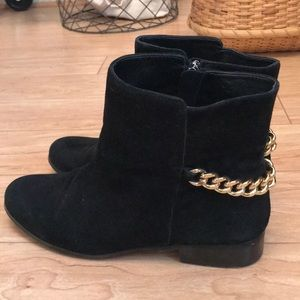 Renvy black chain boots